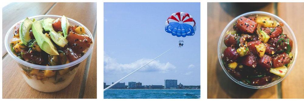 Photo Credits:  Zeke's Beans & Bowls  /  Pirate Parasail  /  Joshua Fitzwater