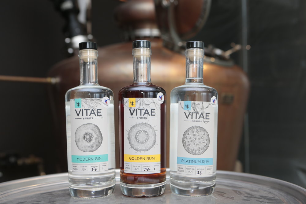 Vitae Spirits   is a family owned and run craft distillery in Charlottesville, Virginia that produces small batch spirits with a focus on quality and hands-on artisanal values. Their product range includes gin, rum, coffee liqueur, and more.  Image: Dan Currier