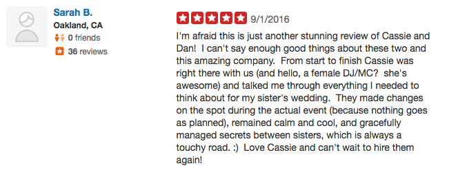 Sarah B. Yelp Review - Los Gatos DJ 2016.png