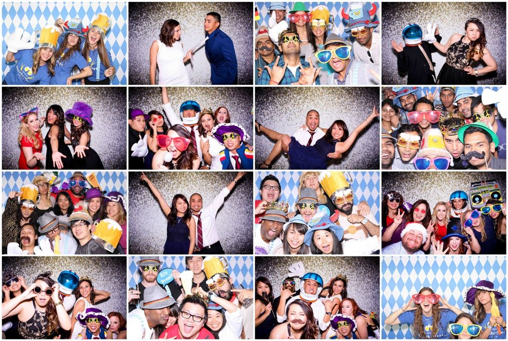 Los Gatos DJ Photo Booth tile collage