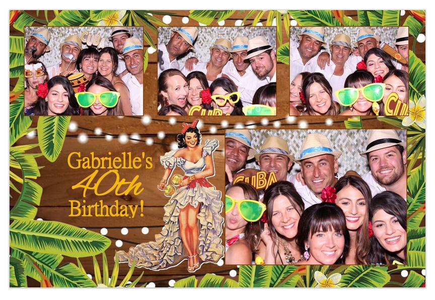 Los Gatos DJ - Gabby's 40th birthday photo strip 4x6.png