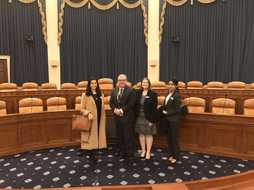 L-R: Marianthi Hatzigeorgiou, Dan Ochylski, Liz Kelman, and Paawan Singh