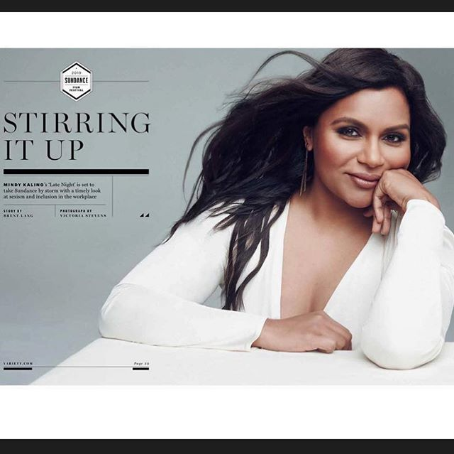 Kicking off #sundancefilmfestival with this beautiful lady on the cover of @variety @mindykaling Lipstick Using @diormakeup #diorbackstage Lip Palette #mindykaling