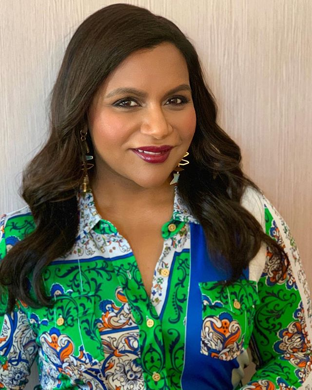 Always a good time with this beauty @mindykaling Lips and blush using @narsissist #toryburch #fw19 . . Hair @marcmena #mindykaling #narsissist