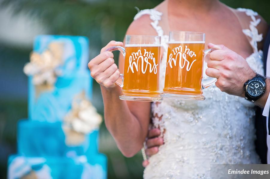 Mr and Mrs Beer Mugs for Lace and Loyalty