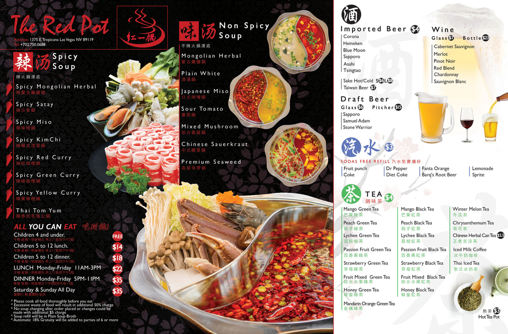 Menu The Red Pot