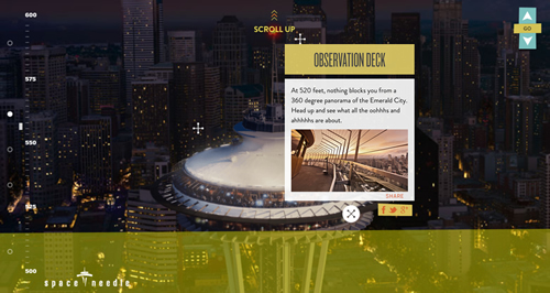Screenshot from the Space Needle website (Image credit: Visit Website)