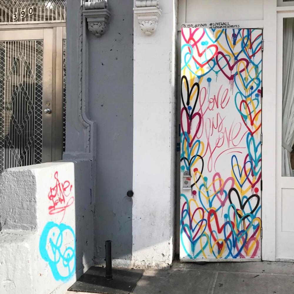 @jgoldcrown  mural / #lovewall