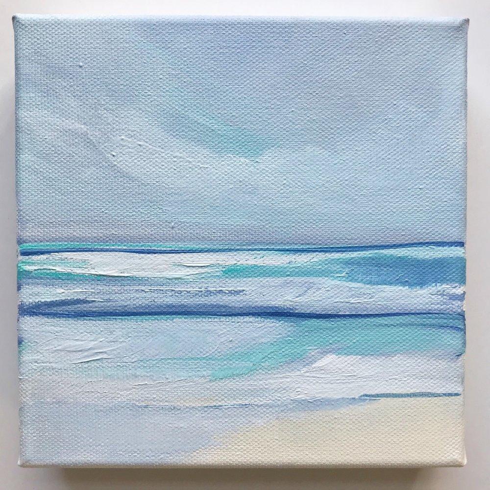 """Southern Shores"" original painting by Megan Elizabeth, 2019."