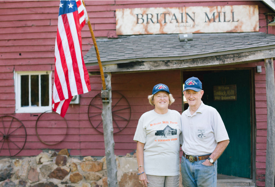 Clyde and Janet Beal's Britain Mill at Turnback Creek near Halltown, Missouri.