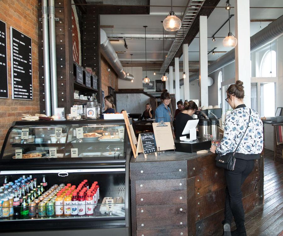 SUNNY SIDE : Brick walls, hardwood floors and big windows create a warm and inviting environment at Eurasia Coffee & Tea.