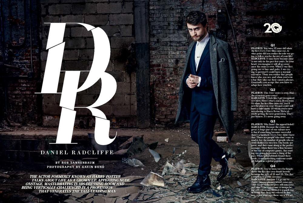 DANIEL RADCLIFFE // Playboy // Gavin Bond