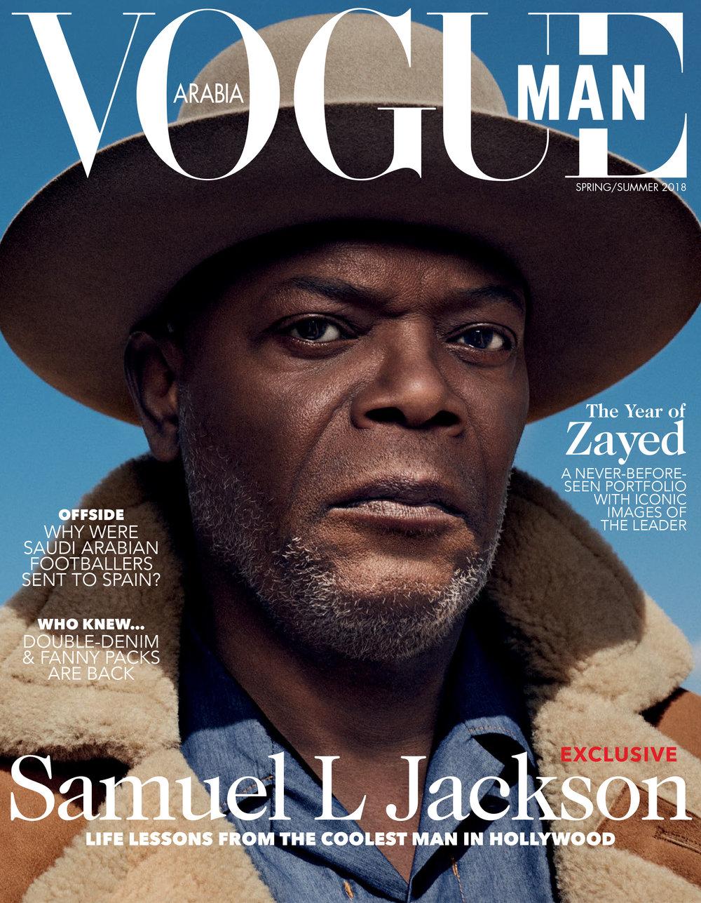 VOGUE MAN // Samuel Jackson // Michael Schwartz
