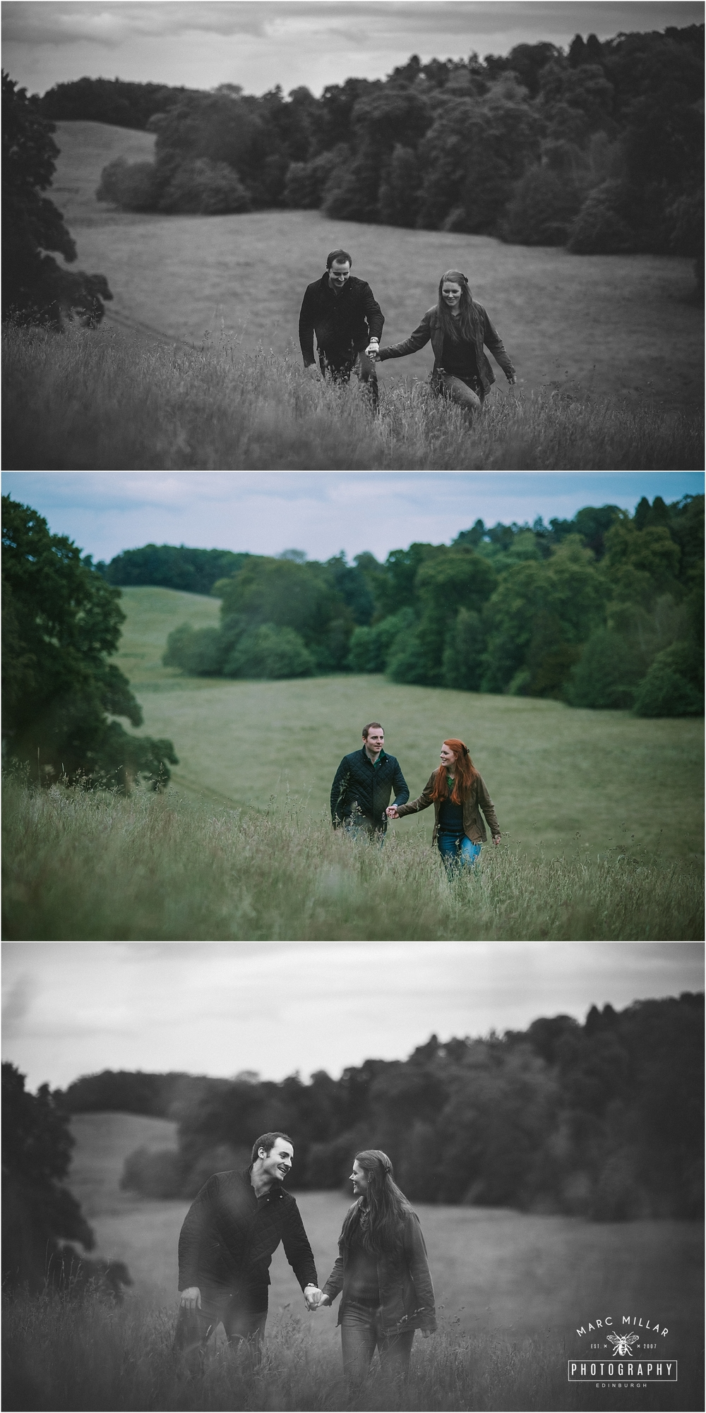 Oxenfoord Castle Wedding Shoot by Marc Millar Photography