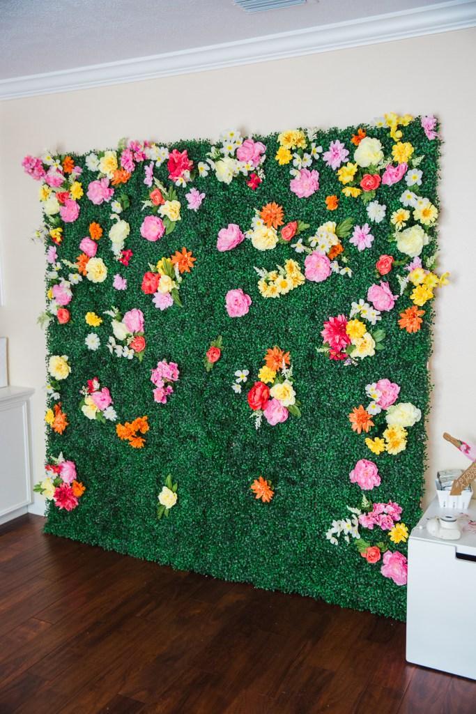 how to make a boxwood backdrop cake confetti