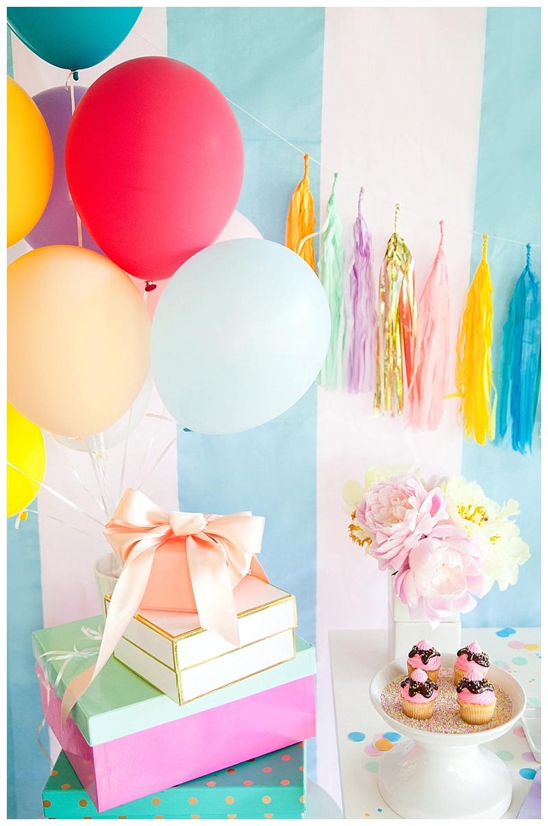cake & confetti ice cream party