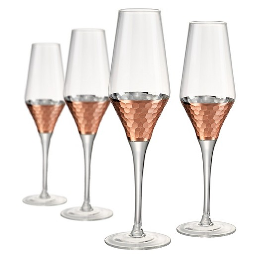 artland coppertino champagne flutes copper statement glasses for fall table setting.jpg