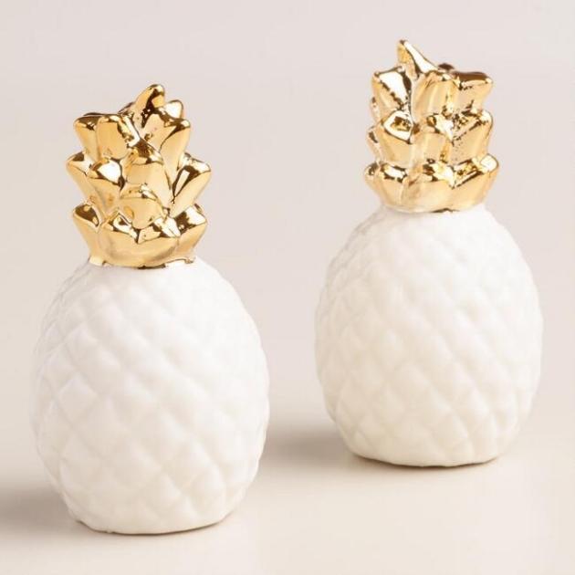 world market gold pineapple salt and pepper shaker.jpg