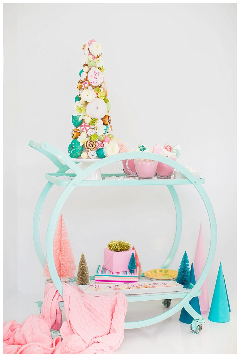 colorful-christmas-bar-cart