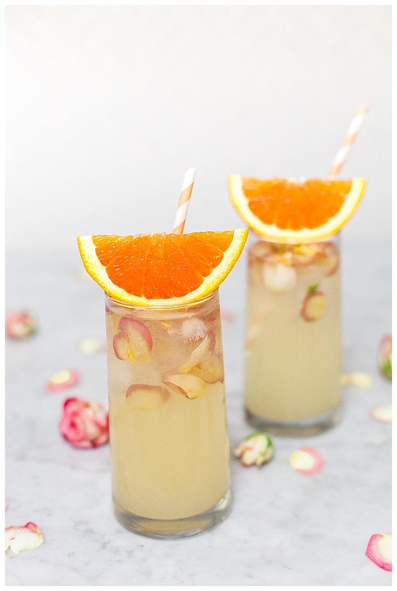 orange blossom elderflower cocktail recipe - cake and confetti