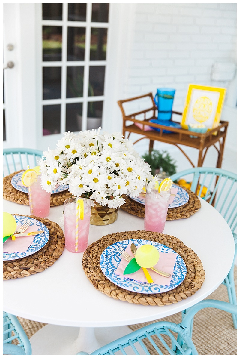 tuesday morning outdoor entertaining cake and confetti