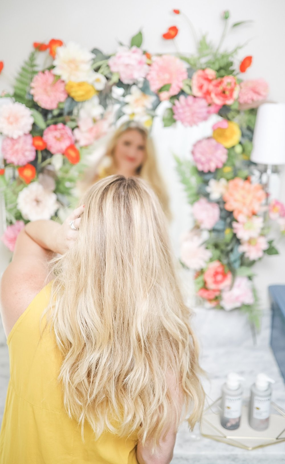 postpartum hair treatment pantene beauty blogger houston cake and confetti meredith staggers