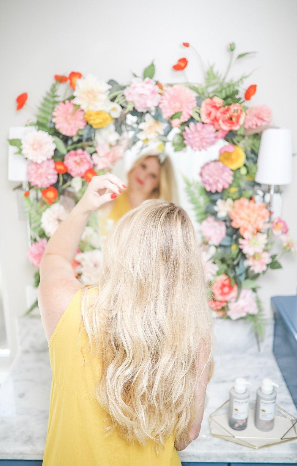pantene postpartum hair houston blogger meredith staggers