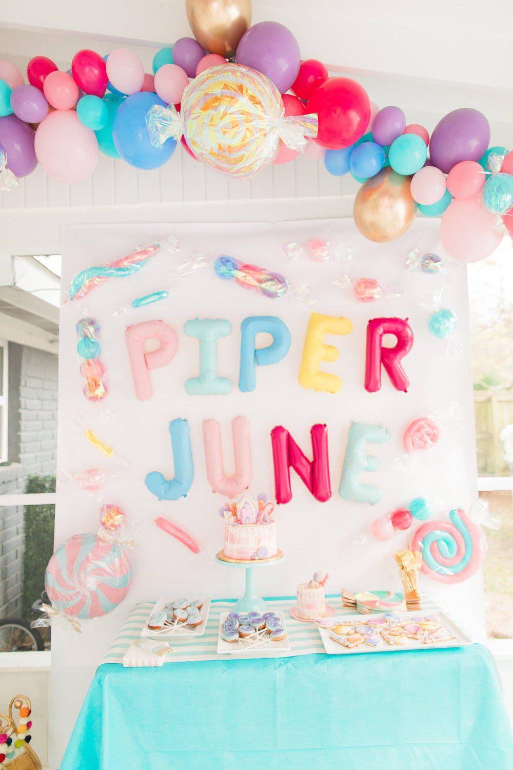 PIPERS CANDY THEMED FIRST BIRTHDAY PARTY Cake Confetti