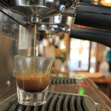 Espresso bar, coffee and tea menu -