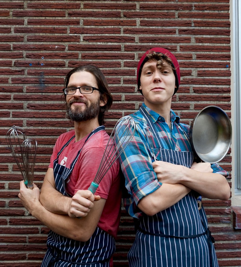 Ryan and Henry: holding down the kitchen