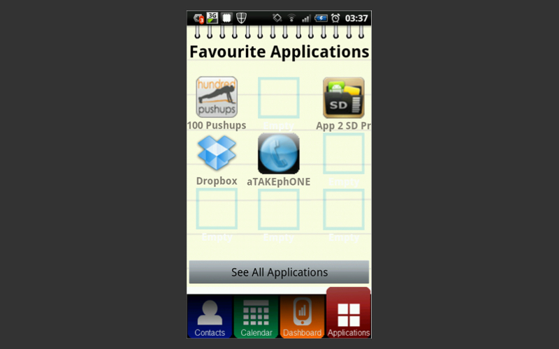 Users can also access favourite apps.
