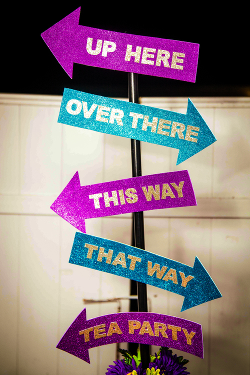 Mad Tea Party Directional Signs
