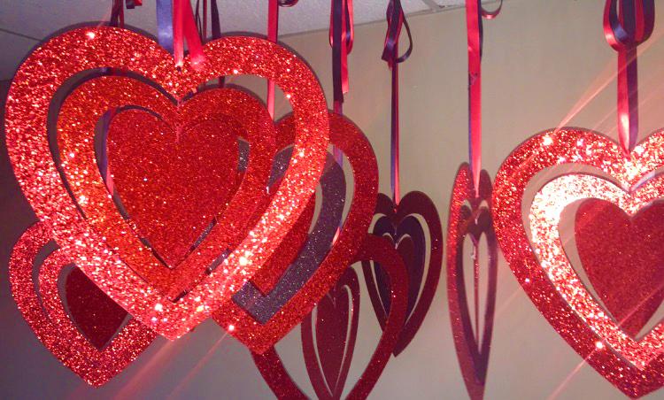 Hanging Hearts Props