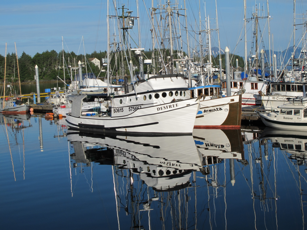 Family fishing boats in Sitka Sound