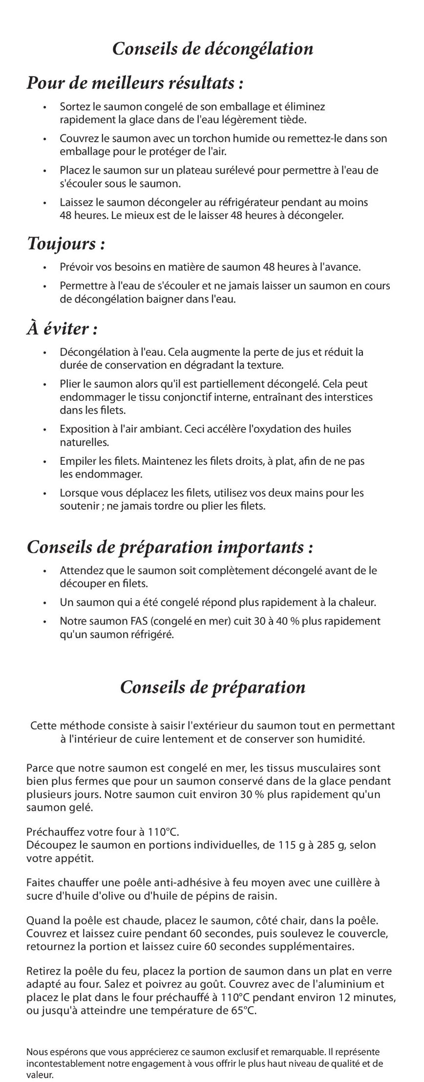 French brochure instructions