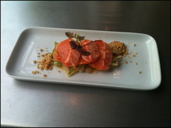 Plated King Salmon