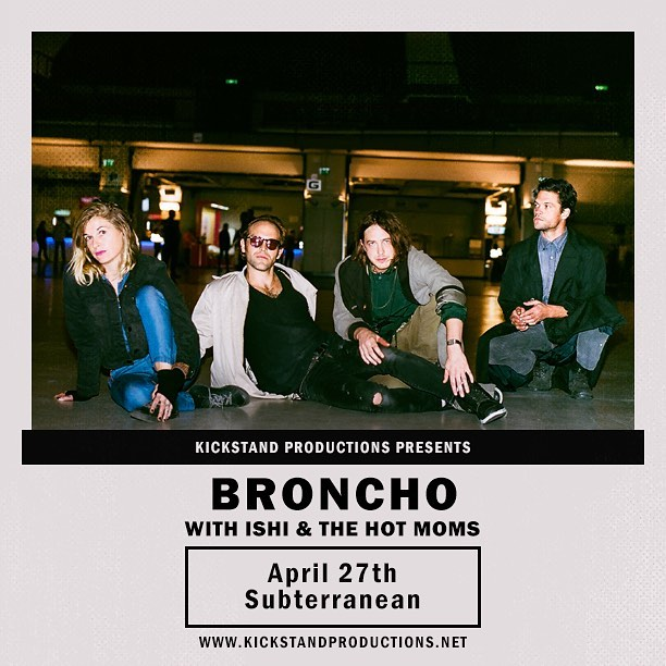 We'll be joining @bronchoworldwide April 27th at @subtchicago 17+ #dontsnowshow . . . . . #rockandroll #norman #reverb #nowave #lobsterrock #surf #silvertone #chicago #local #babes #dudes #retro #mcm #kickstandproductions #gearporn #ampeg #gibson #lespaul #ownthetone #danelectro