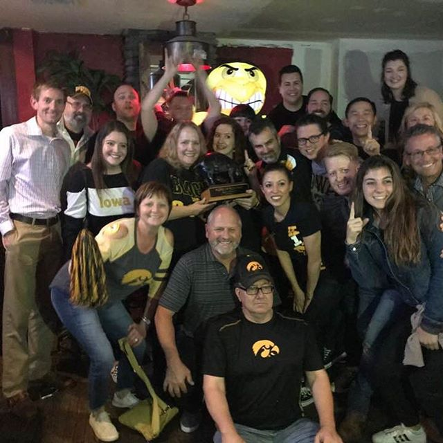 Celebrating the #Hawkeye win in #NYC! #gohawks #nychawkeyes #nymetroiowaclub