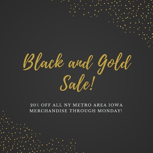 No matter if we win (obviously) or lose today against Nebraska, you're already a winner in our book. We think winners deserve rewards, which is why we're offering 20% off all NY Metro Iowa Club merch this weekend! Grab your favorite Iowa fan a gift they're bound to love - a NY Metro Iowa Club t-shirt or beanie.  If you've been admiring our t-shirts all season, or you think our beanie would look great on your friend this winter, now's the time to score on swag! No coupon code needed - your 20% off is already applied.  This is the easiest way to cross fellow Hawkeyes off your shopping list this year. Thanks for being a dedicated Iowa fan - this year, we're thankful for you!  Head over to our website (linked in our profile) to get your NY Metro Iowa branded gear today!