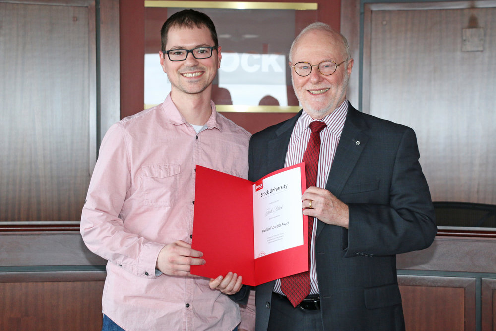 President's Surgite Award at Brock University (2017)