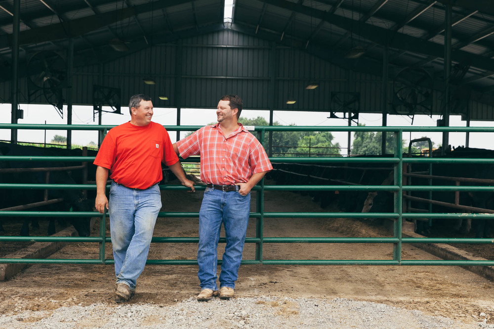 Cousins Brandon Oliver and Milton Cook of Black Hawk Farms