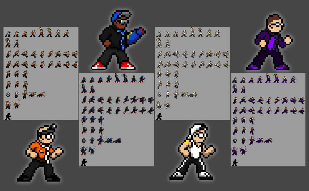 New character sprites