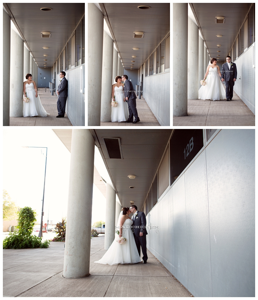 009 duluth wedding photographer mad chicken studio photographing bride and groom at the duluth library.jpg