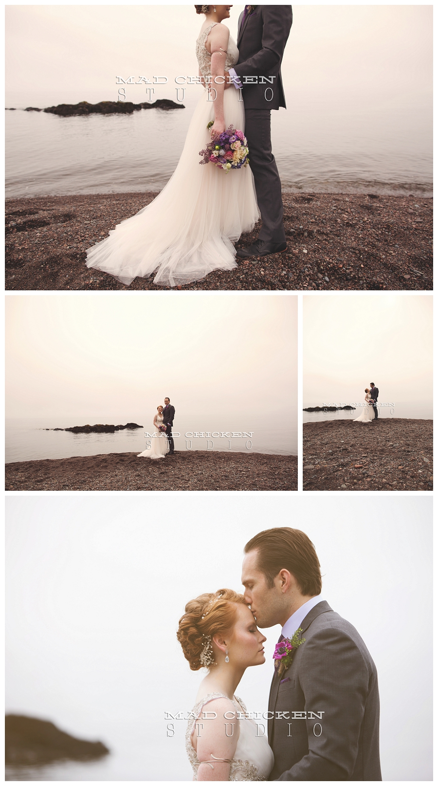 17 bride and groom on lake superior at lutsen resort photographed by duluth wedding photographer mad chicken studio.jpg