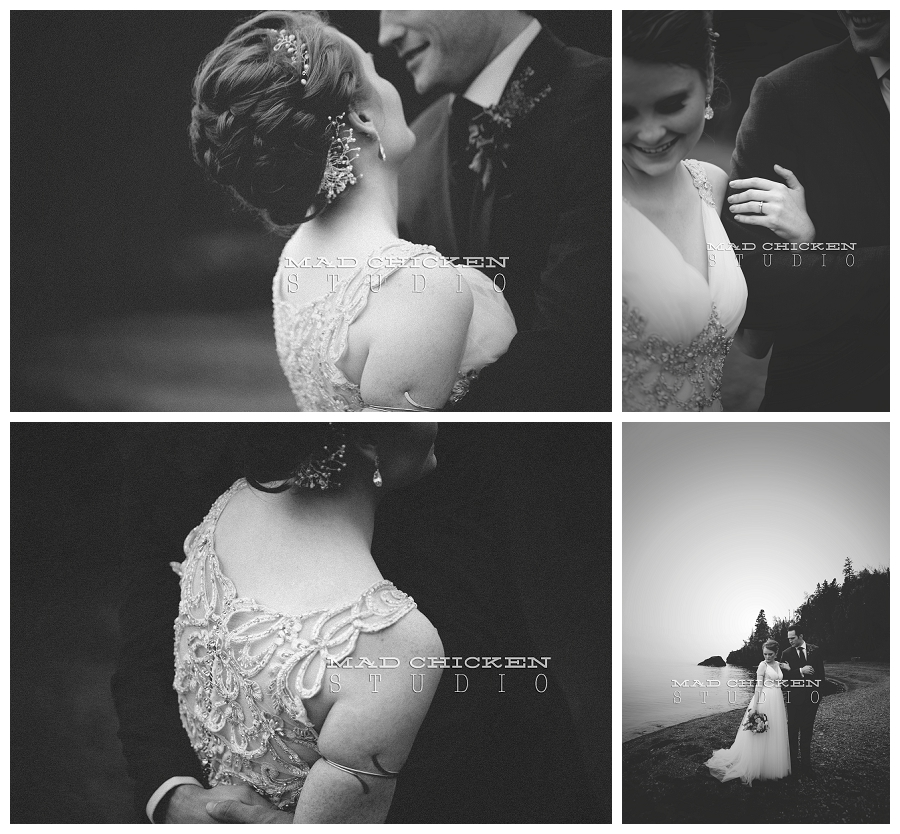 20 duluth wedding photographer mad chicken studio photographing bride in maggie sottero and groom at lutsen resort.jpg