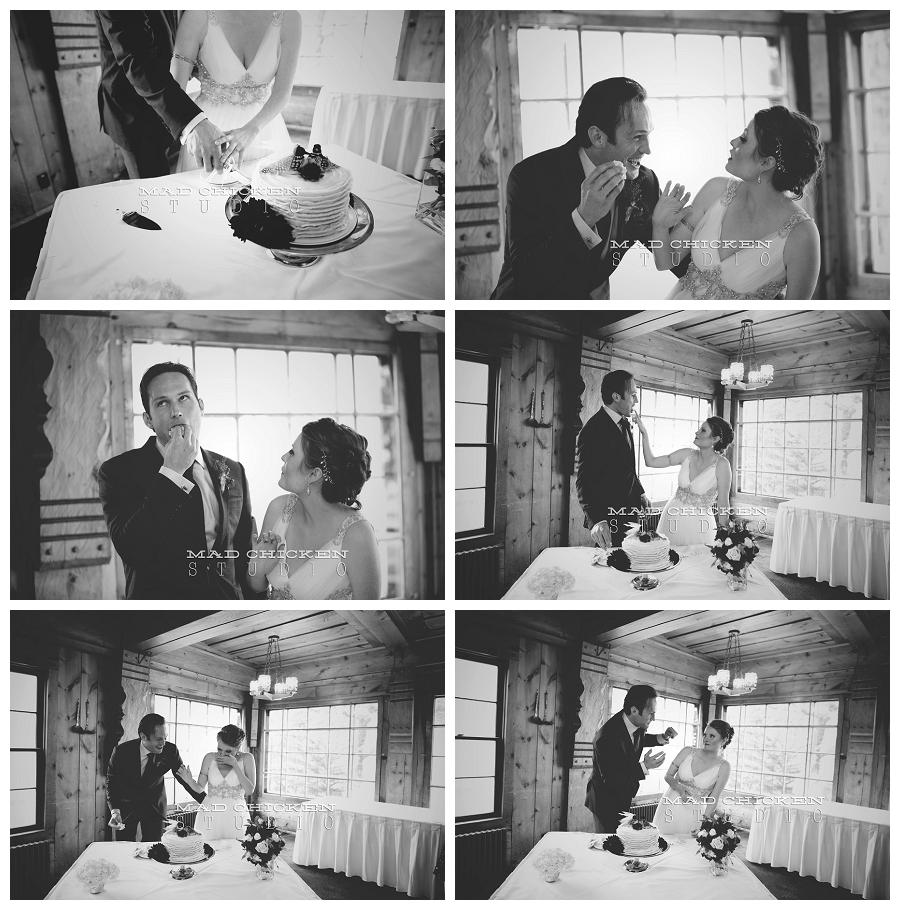 31 cake cutting for a wedding at lutsen resort.jpg