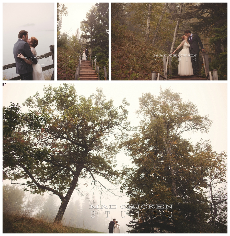 37 romantic foggy wedding images of bride and groom photographed by duluth wedding photographer mad chicken studio.jpg