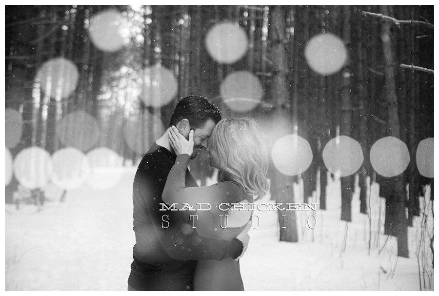 double exposure engagement image of sean and larysa at hartley nature center on valentine's day wedding photography by mad chicken studio jes hayes