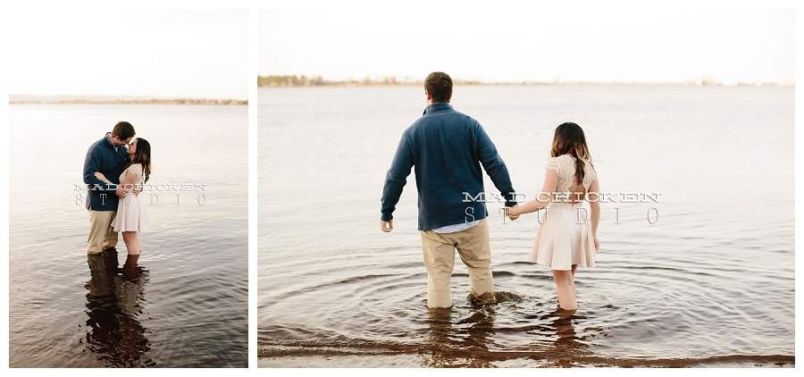 barker's island engagement session of josh and allison by duluth wedding and engagement photographer mad chicken studio photography