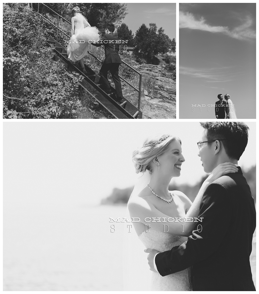 duluth wedding photographer | mad chicken studio | Darrick and Laura on Lake Superior | Monique Lhuillier | Bella Flora Duluth